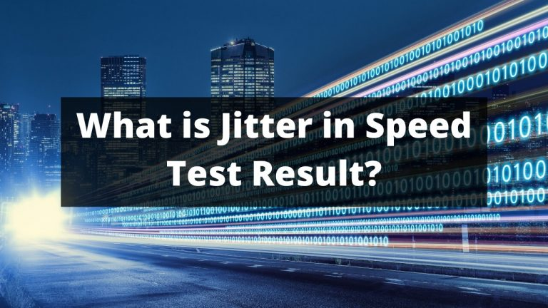 Jitter Means in Speed Test